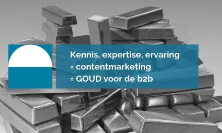 Contentmarketing is goud voor de b2b