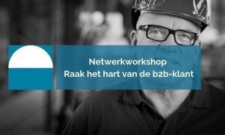 Netwerkworkshop Raak het hart van de b2b-klant | 10 september 2019