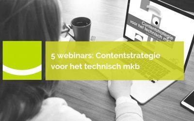 5 webinars Contentstrategie voor het technisch mkb | Archief