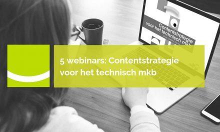 5 webinars Contentstrategie voor het technisch mkb | juli 2019