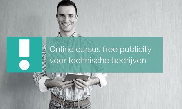 Online cursus free publicity voor technische bedrijven