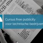 Cursus free publicity voor technische bedrijven