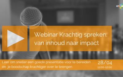 Krachtig presenteren: van inhoud naar impact | 28 april 2021