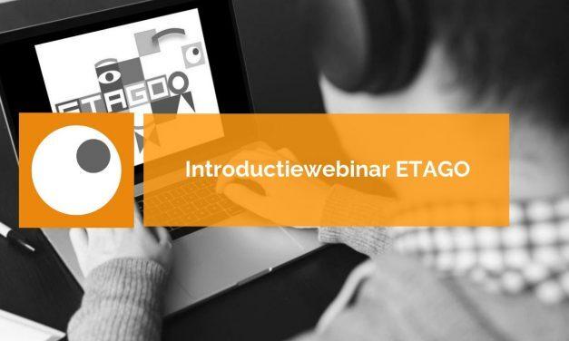Introductie webinar ETAGO: 20 acties | 21 augustus 2019